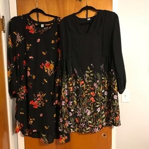 Lot of 2 Old Navy Babydoll Dresses Large Tall